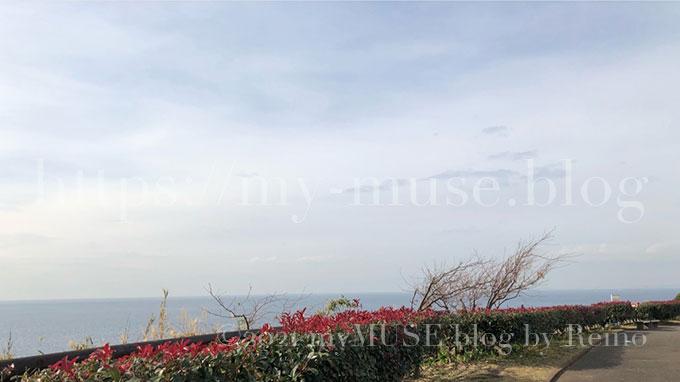 京急油壺マリンパークから見渡せる相模湾