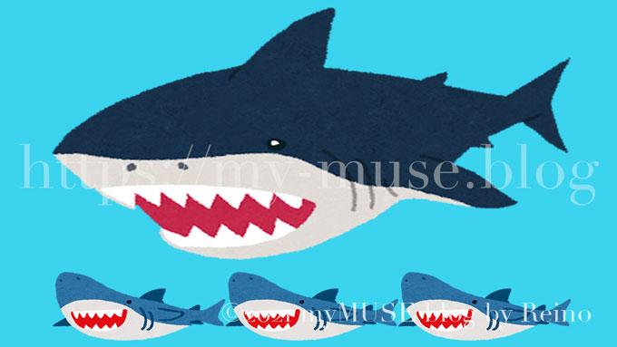 メガロドンの大きさはのホホジロザメと比較すると3倍