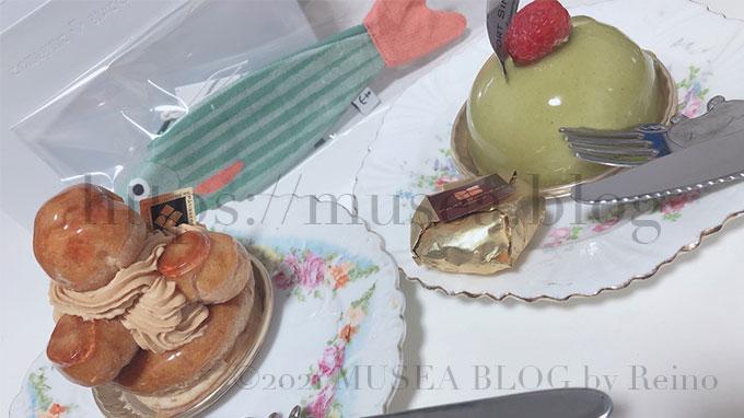 パティスリーポールサンセールのケーキとドンフィッシャーのお魚