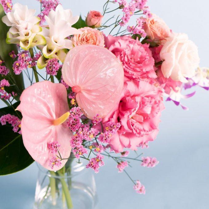 お花の定期便HitoHana(ひとはな)お花の色ピンク