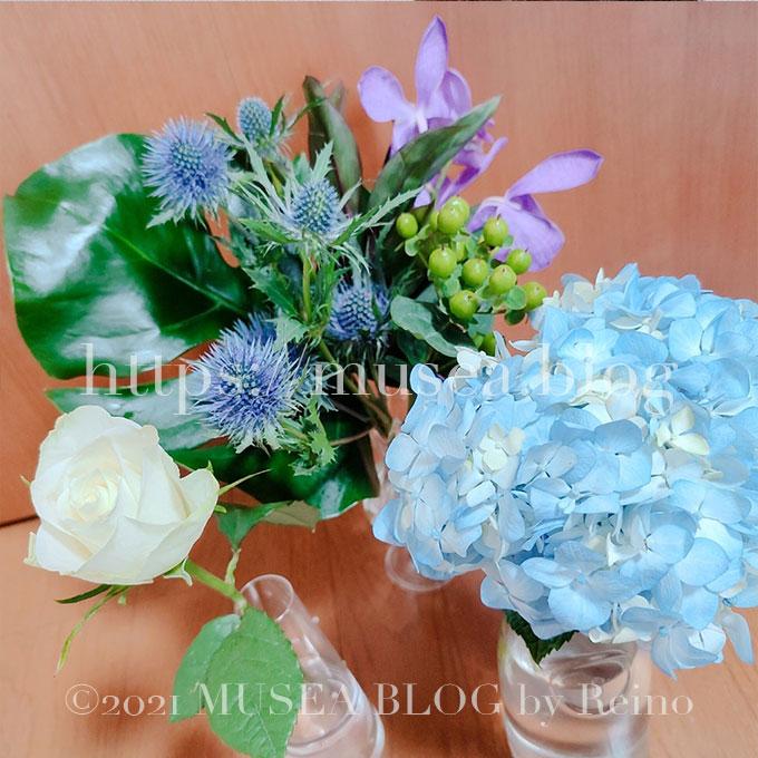 写真多数!お花の定期便HitoHana(ひとはな)の口コミブログ【ブルー8月6日週】